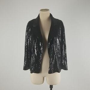 Forever 21 Black Sequins Blazer Jacket Large